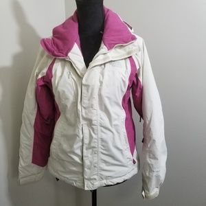 The North Face Pink White Ski Jacket SZ S